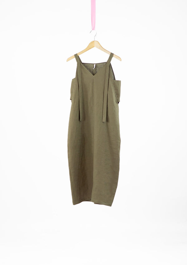 Limited Edition Tara Dress Linen Khaki S