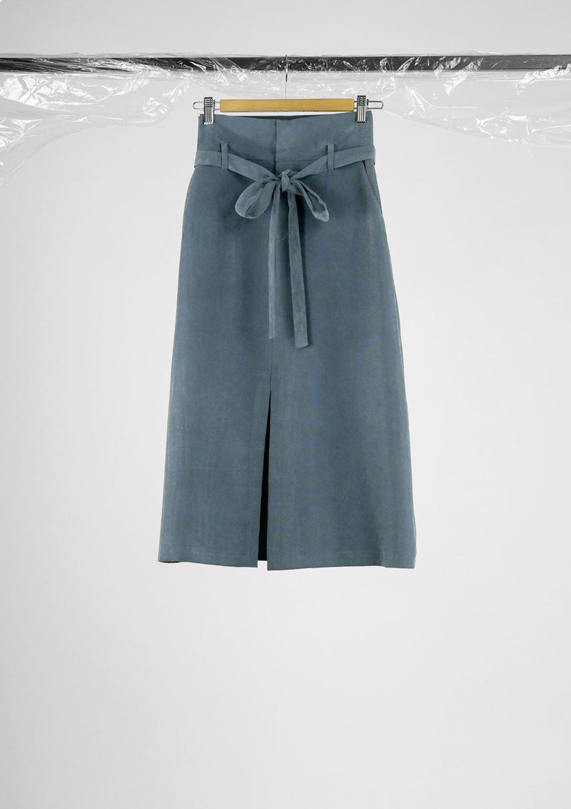 Limited Edition Troye Skirt Cupro Polyester Blue S