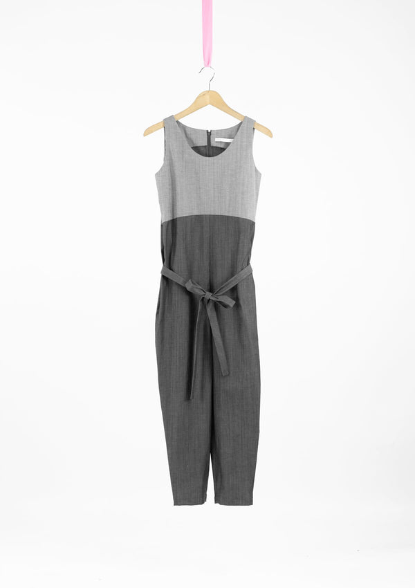Limited Edition Willa Jumpsuit Cotton Denim Grey S