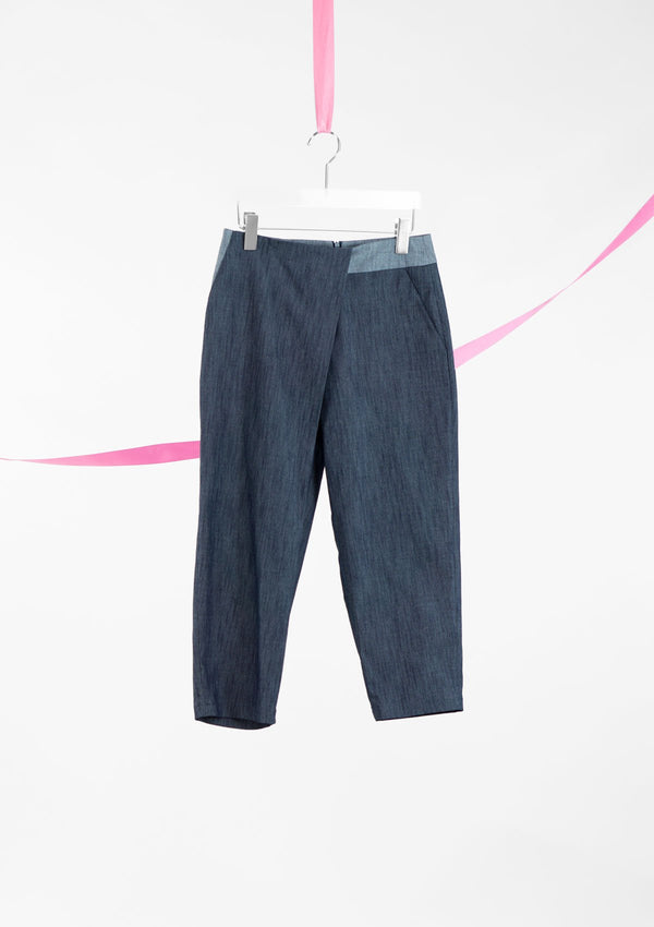 Limited Edition Xenia Pants Cotton Denim Blue S
