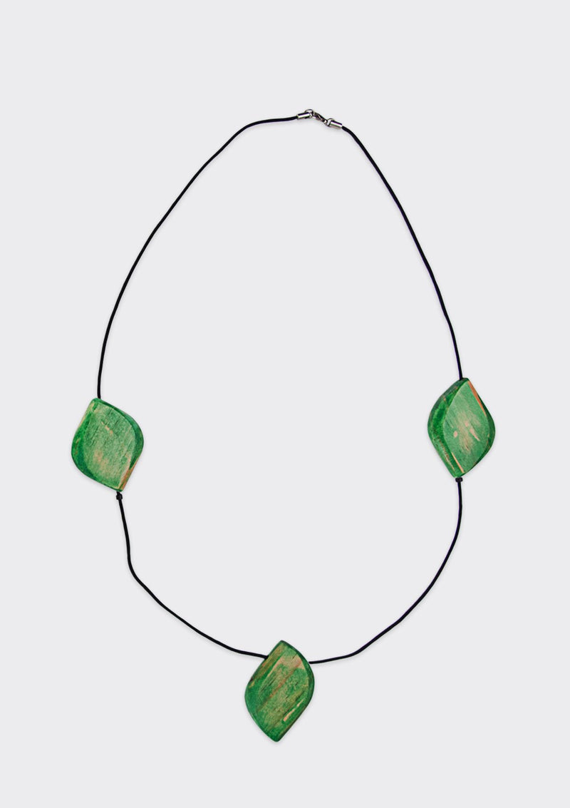 Spring Summer 2019 Diamond Blocks Necklace FM Green FS