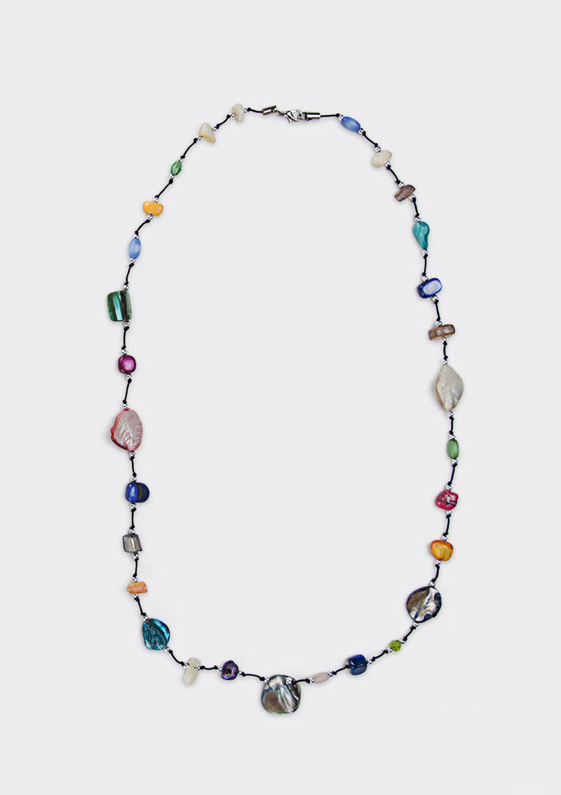 Rainbow Stained Necklace