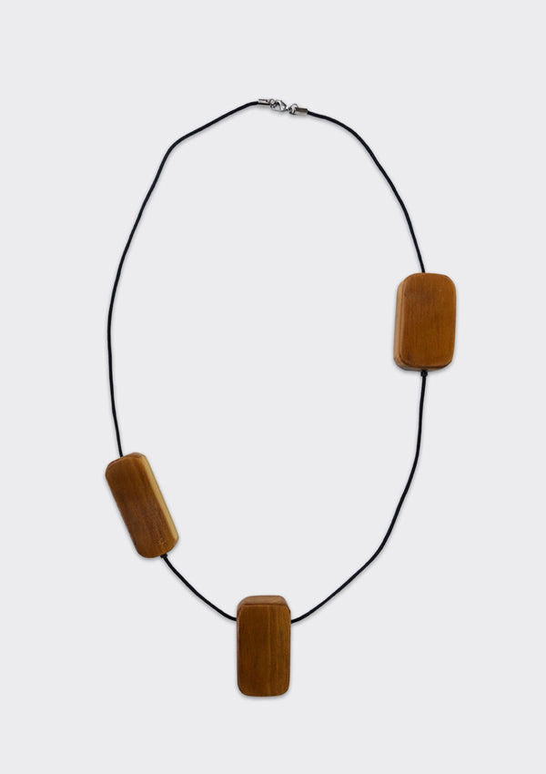 Spring Summer 2019 Blocks Necklace FM Brown FS