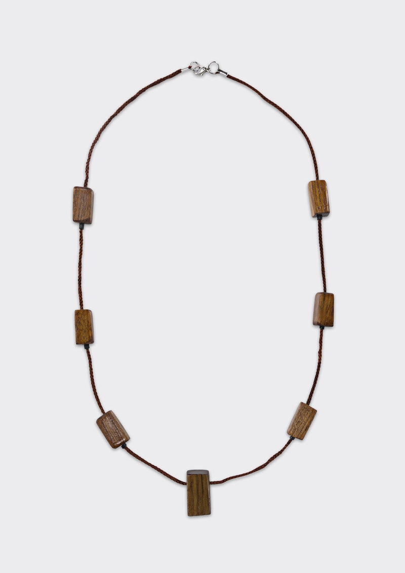 Spring Summer 2019 Mini Blocks Necklace FM Brown FS