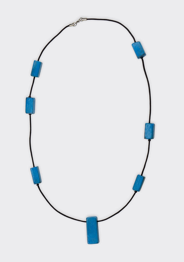 Accessories Blue Mini Block Necklace FM Blue FS