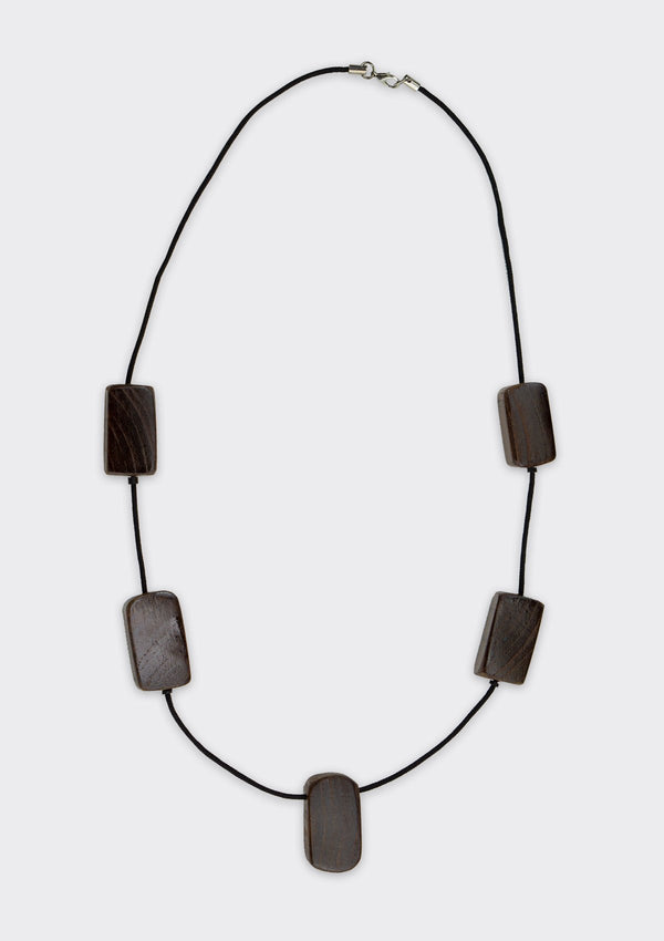Accessories Rounded Block Necklace FM Brown FS