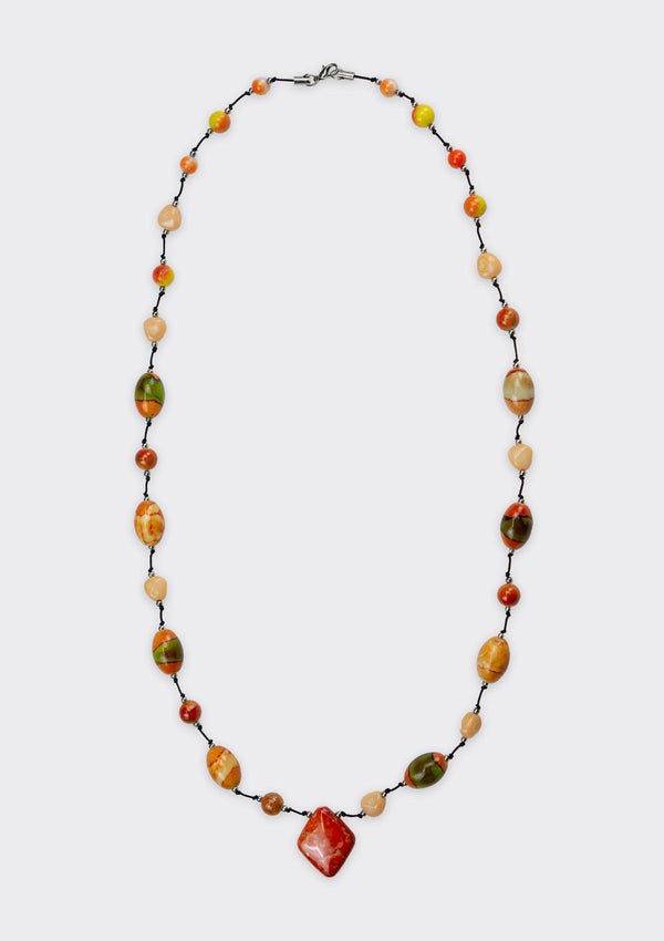 Accessories Sunset Beaded Necklace FM Orange FS