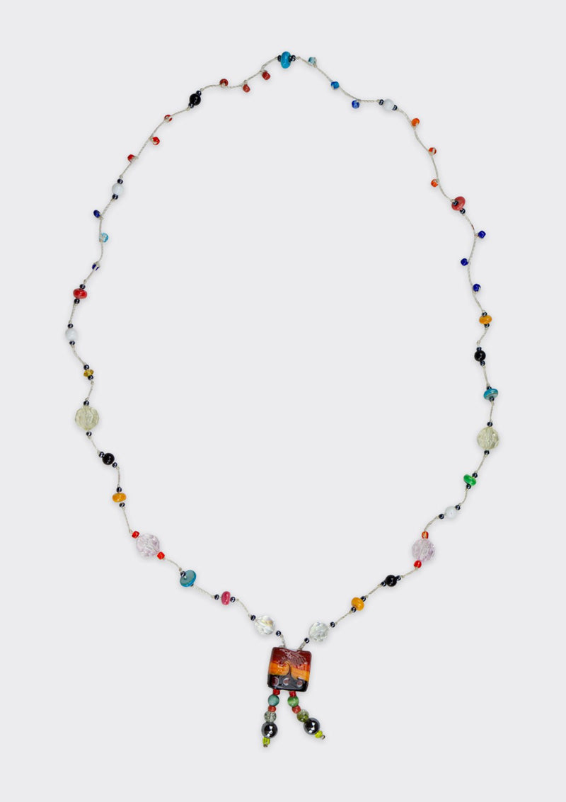 Accessories Glass Beaded Tribal Necklace FM FC FS