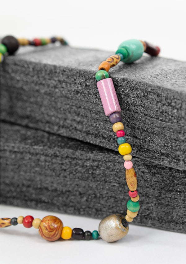 Spring Summer 2019, Fall 2019, Resort 2019/20 Rainbow Wood Necklace FM FC FS