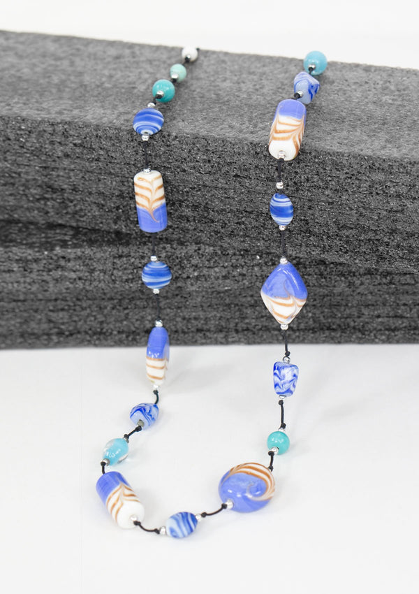 Spring Summer 2019, Fall 2019, Resort 2019/20 Porcelain Necklace FM Blue FS