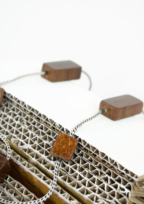 Spring Summer 2019, Fall 2019, Resort 2019/20 Cuboid Block Necklace FM Brown FS
