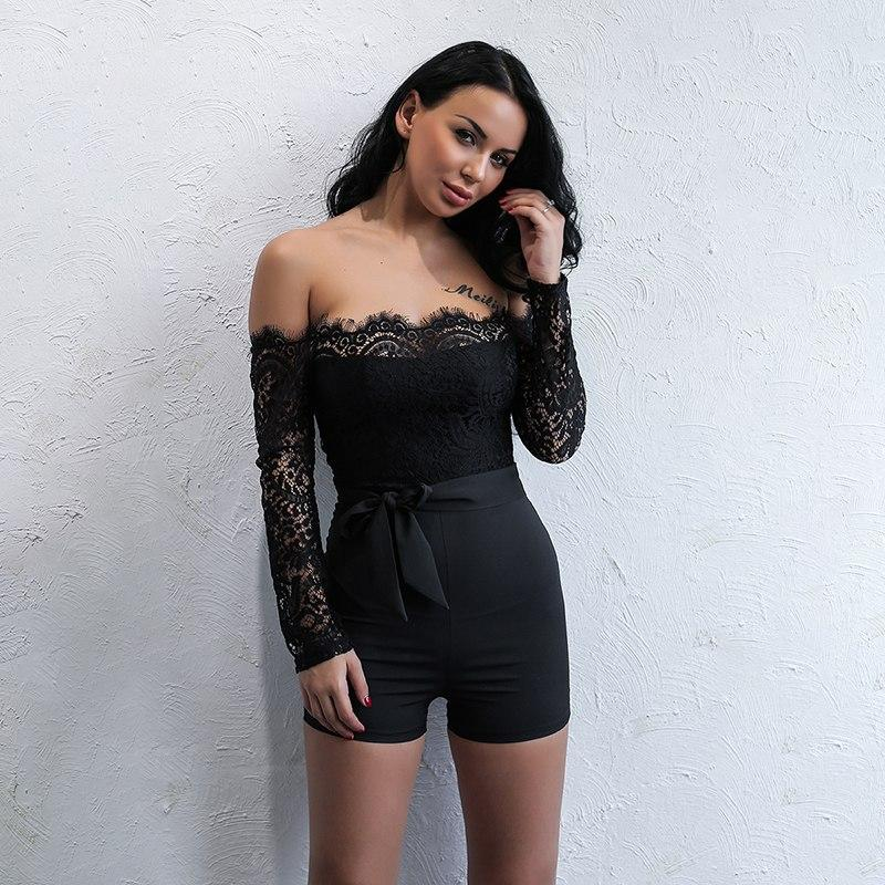Sexy In Black Off Shoulder Jumpsuit