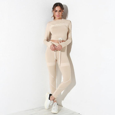 Crop It Out Autumn Sports Tracksuit