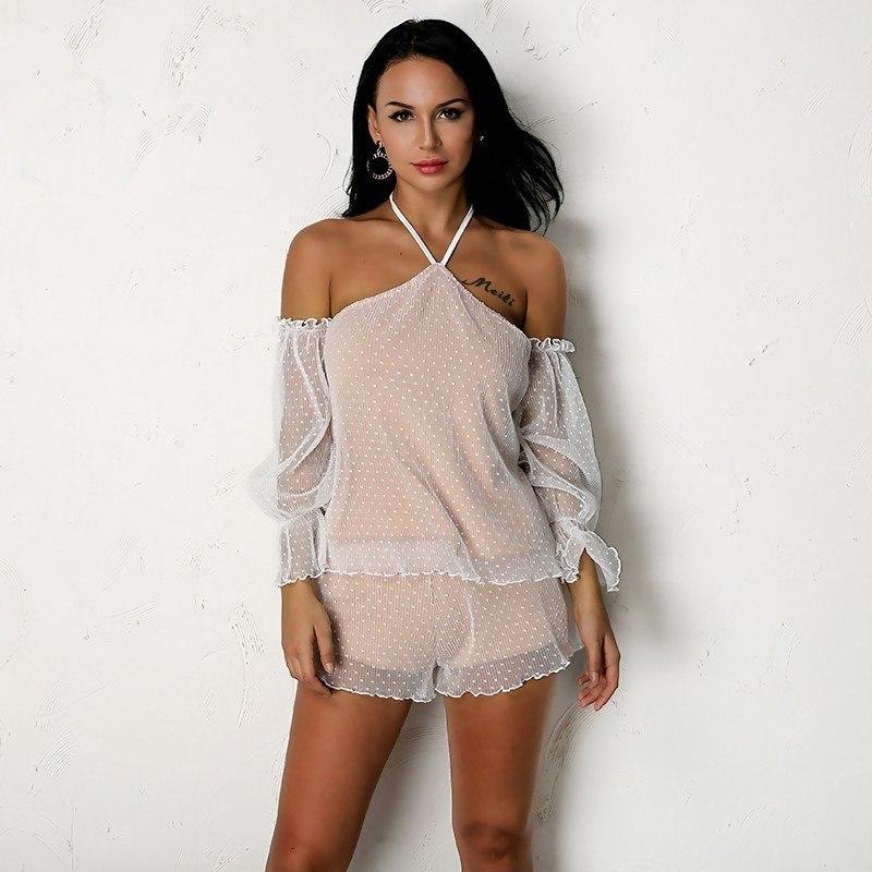 Must Be The Ruffles Mesh Romper