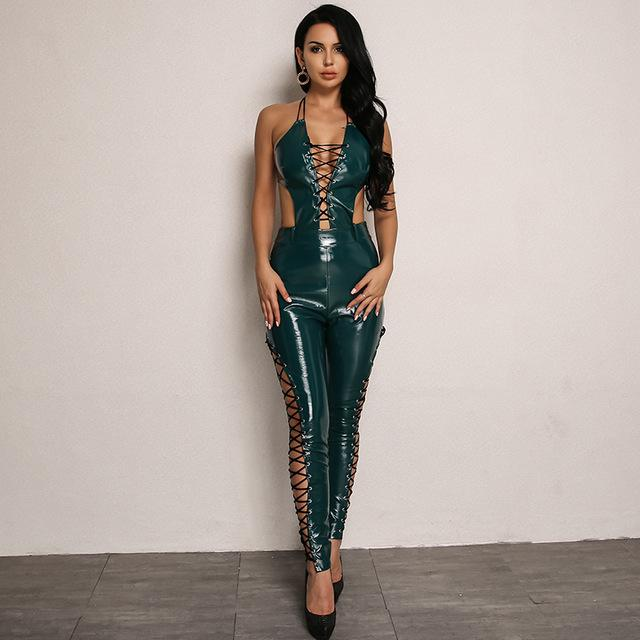 Must Be The Money Lace Up Jumpsuit