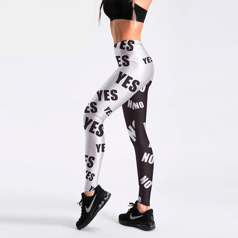 Black Cat Print Fitness Leggings