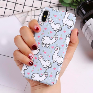 Coque iPhone Lama Coeur