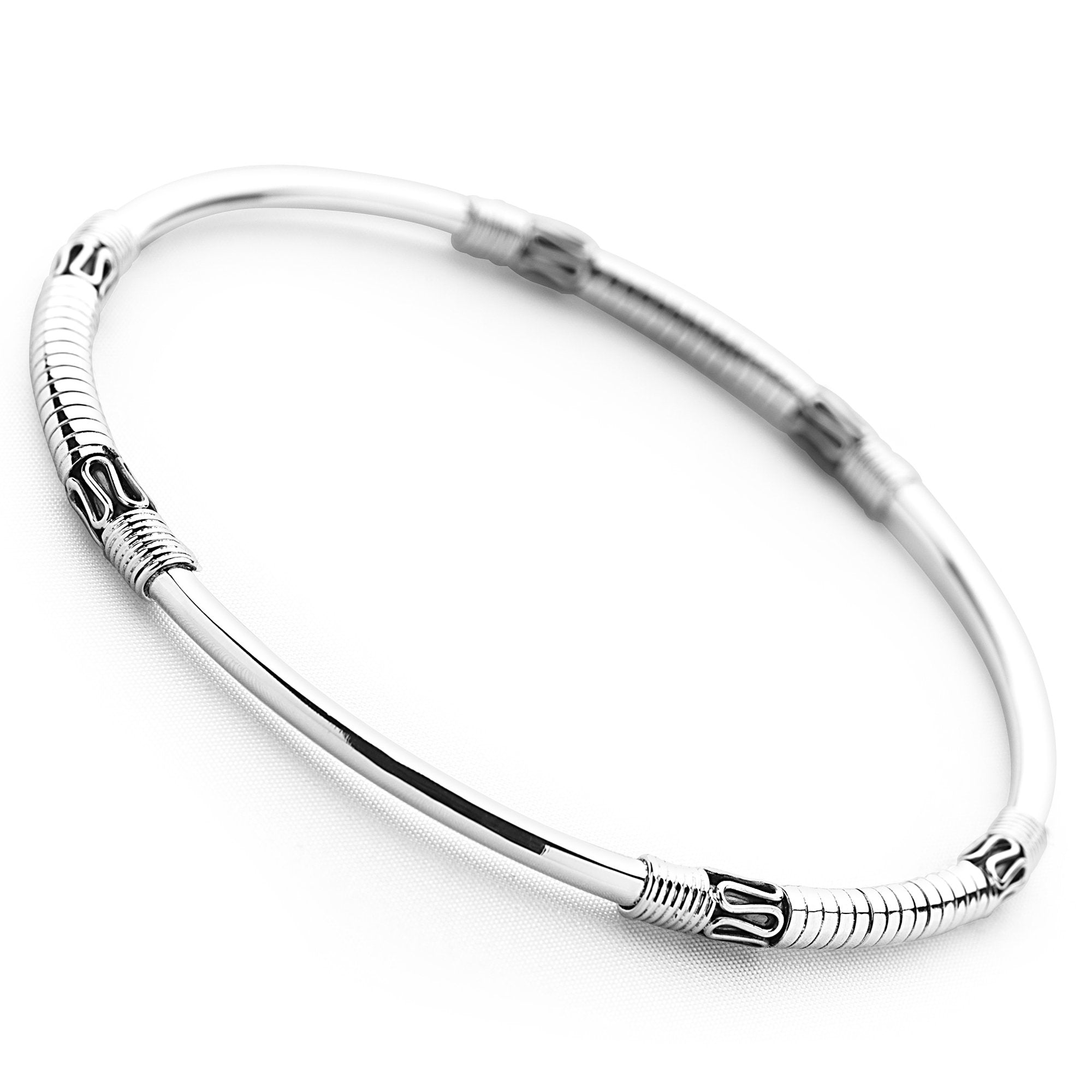 925 sterling silver artisan-crafted bangle (BGL1141)