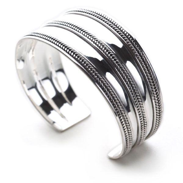 925 sterling silver artisan-crafted bangle (BGL5271)