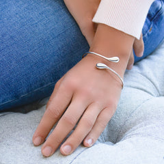 Silver Raindrops Bangle (BGL6011)