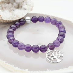 Tree of Life Amethyst Bracelet (BRC13421)