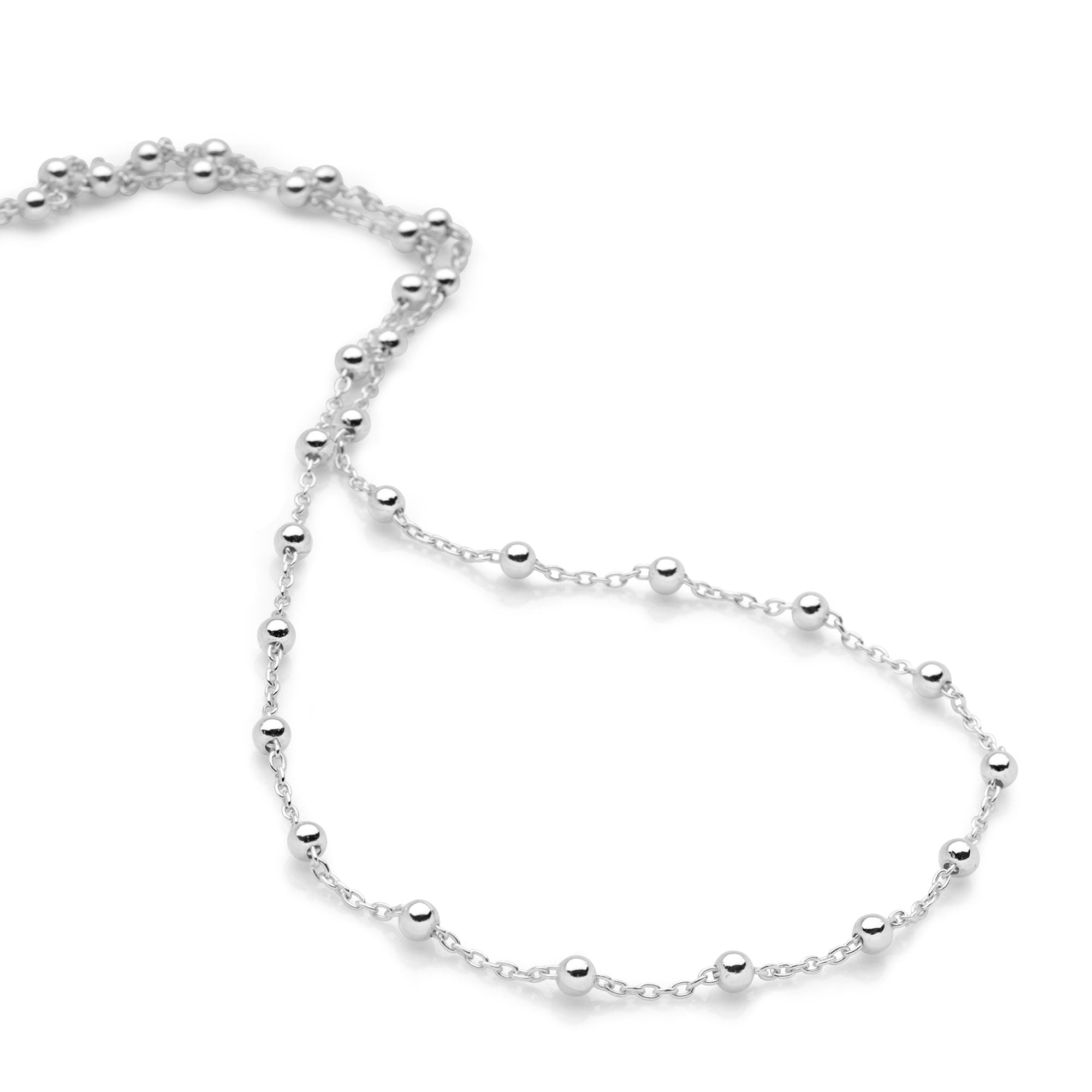 Isabella Silver Necklace (CHN12221)