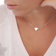 Silver Triangle Chain - For Layering (CHN8651)