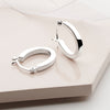 Horseshoe Hoops - Silver (E10741)