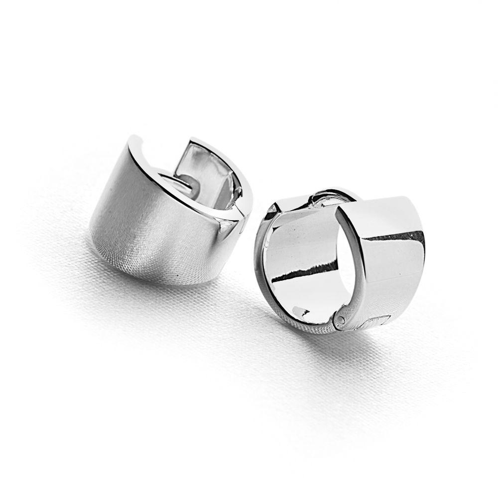 925 sterling silver wide petite hoop earrings (E15101)