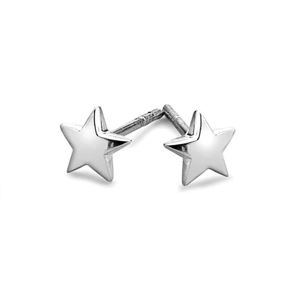 925 sterling silver 5 pointed star stud earrings (E29611)