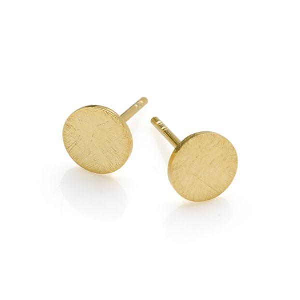 925 sterling silver with brush gold plate finish studs. (E39651)