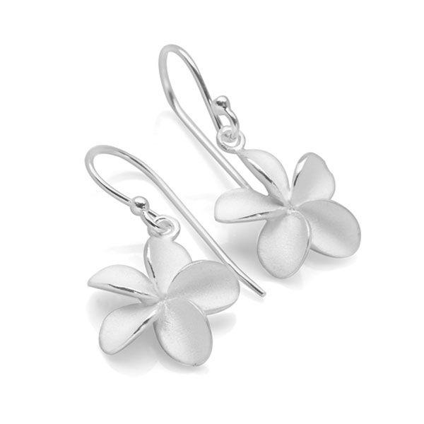 925 sterling silver flower with a brushed satin finish. (E40461)