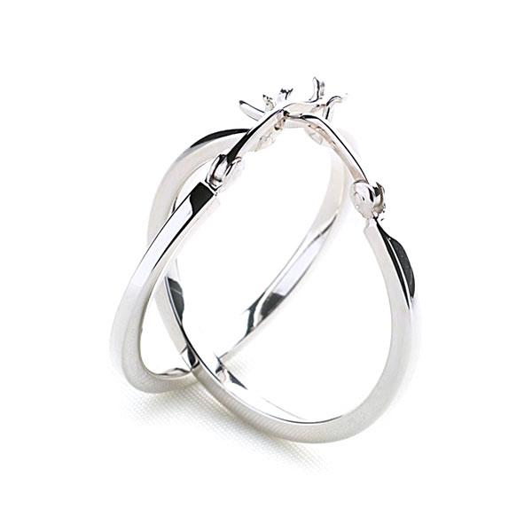Chunky 925 sterling silver squared edge hoop earring 25 mm