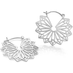925 sterling silver sunburst earrings. (E44651)