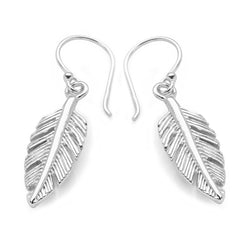 925 sterling silver feather earrings (E45951)