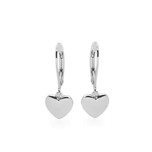 925 sterling silver heart earrings (E48851)
