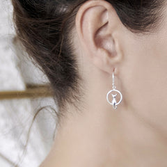 Kitty in the Moon Earrings (E49021)