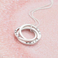 Personalised Russian Rings Pendant (P22981)