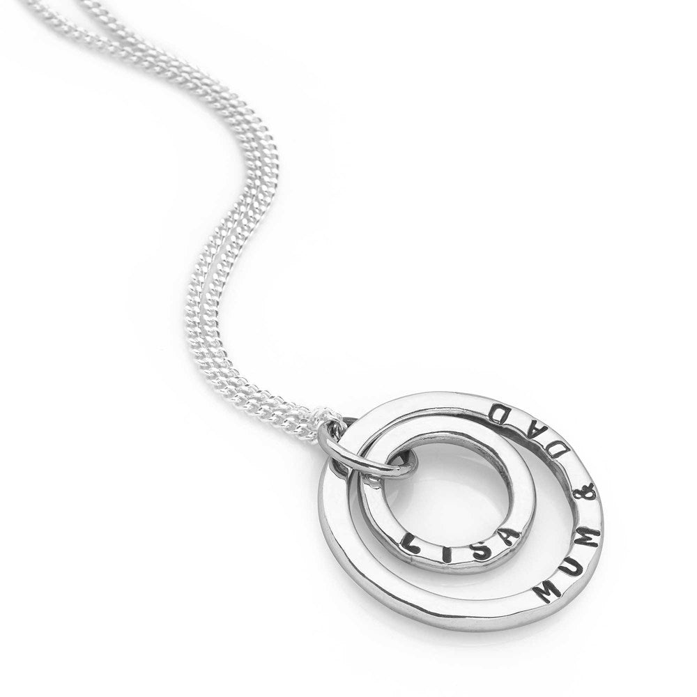 Personalised Double Ring Pendant (P25111)