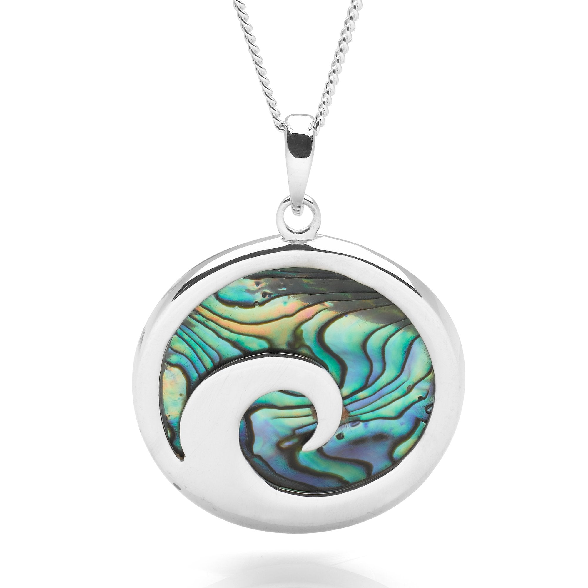 Silver Surf Curl Necklace (P26281)