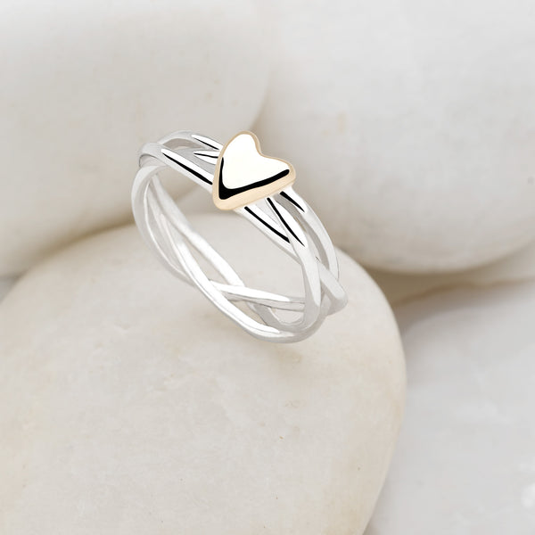 Golden Hearted Ring (R10081)