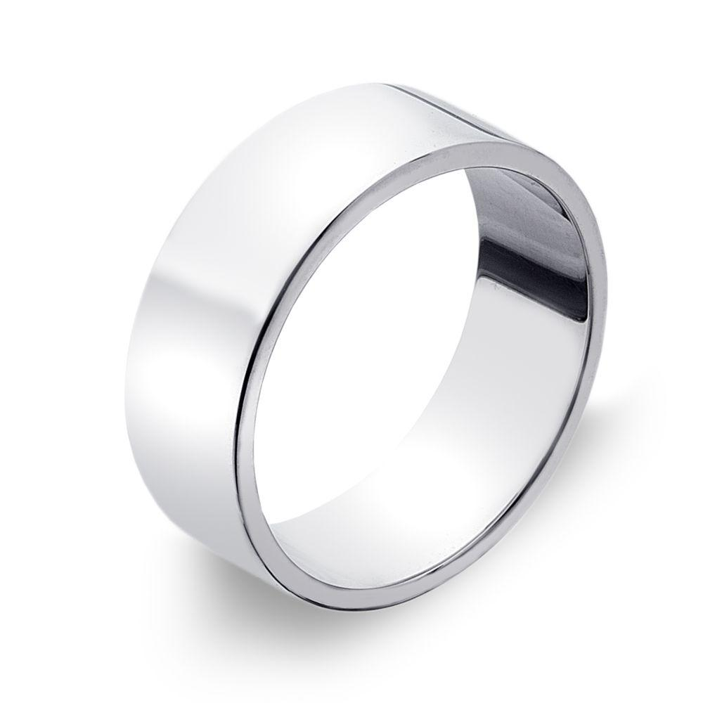 Flat-edged 925 sterling silver band ring 7 mm