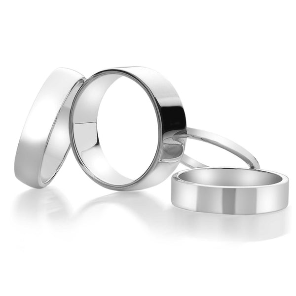 Flat Silver Band Ring 5MM (R1061)