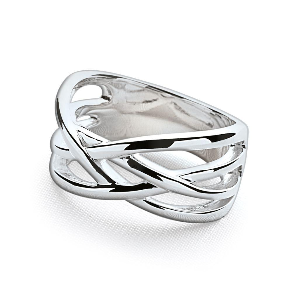 925 sterling silver entwined threads rings (R10671)