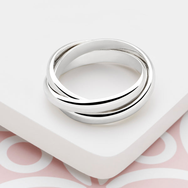 Silver Russian Wedding Ring (R1301)