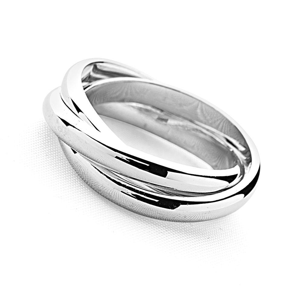 925 sterling silver triple rolling ring