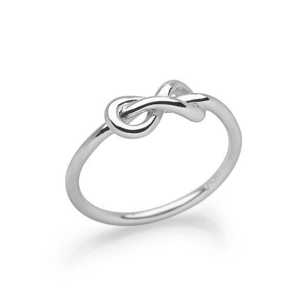 925 sterling silver infinity symbol ring (R16771)