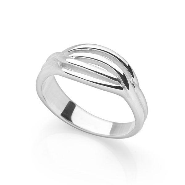 925 sterling silver Slender lines formed into one ring (R16831)