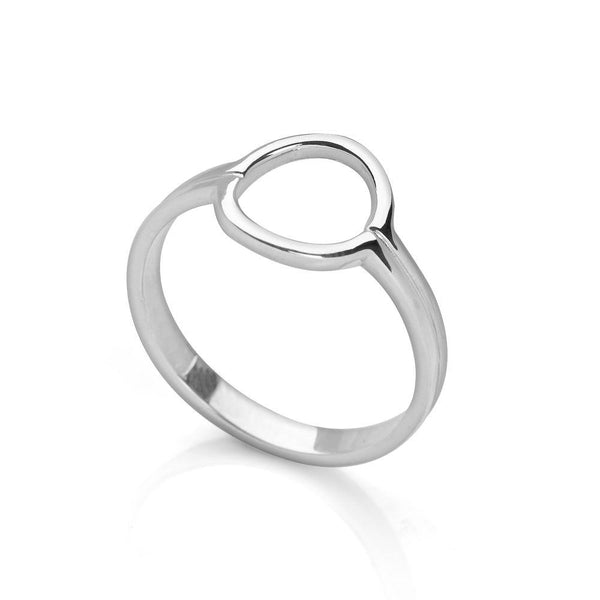 925 sterling silver Double band fused together with an open halo top ring (R18021)
