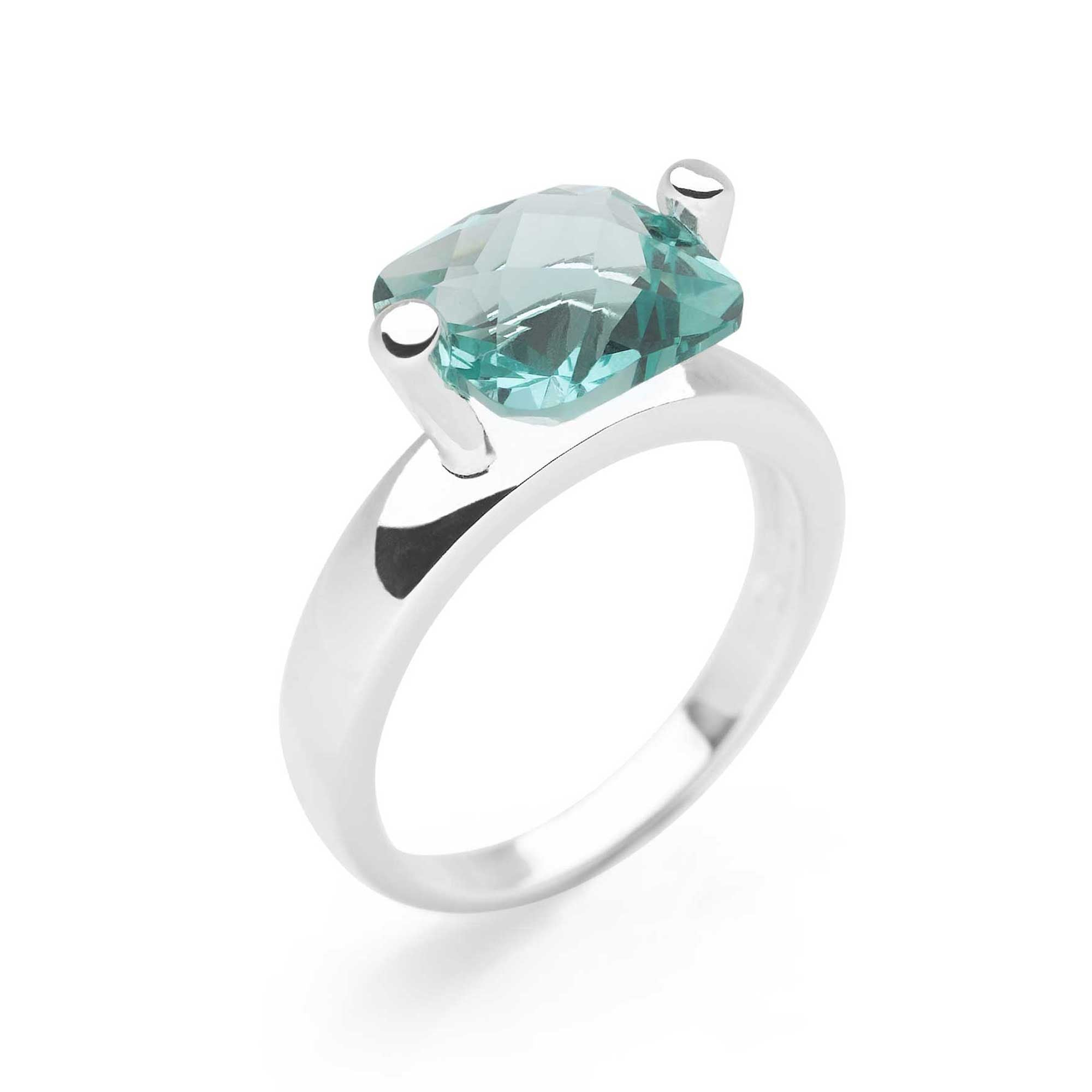 Green Obsidian,set in twin 925 sterling silver clasp ring (R20251)